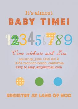 9 Months is here Baby Shower Invitations