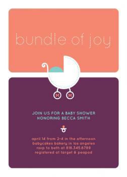 Bundle of Joy Baby Shower Invitations