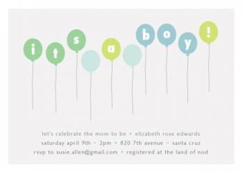 balloons Baby Shower Invitations