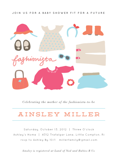 baby shower invitations - Little Fashionista by Jennifer Wick