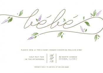 French Countryside Baby Shower Invitations