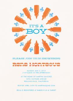 Bottle Rockin Baby Shower Invitations