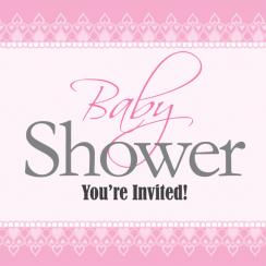 Lovely Lace Baby Shower Invitations