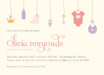 Hanging Out Baby Shower Invitations