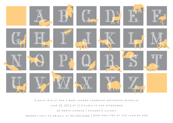 baby shower invitations - Modern Alphabet Blocks by Lehan Veenker