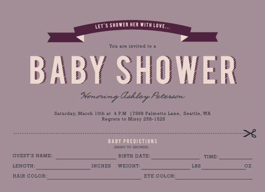 baby shower invitations - Predictions of the Little One by Serenity Avenue