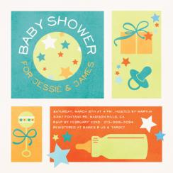 Boxes of Stars Baby Shower Invitations