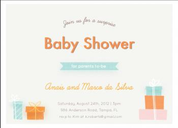 Surprise shower Baby Shower Invitations