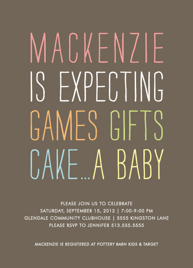 baby shower invitations - Expecting by Kim Dietrich Elam