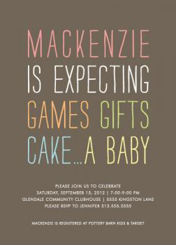 Expecting Baby Shower Invitations