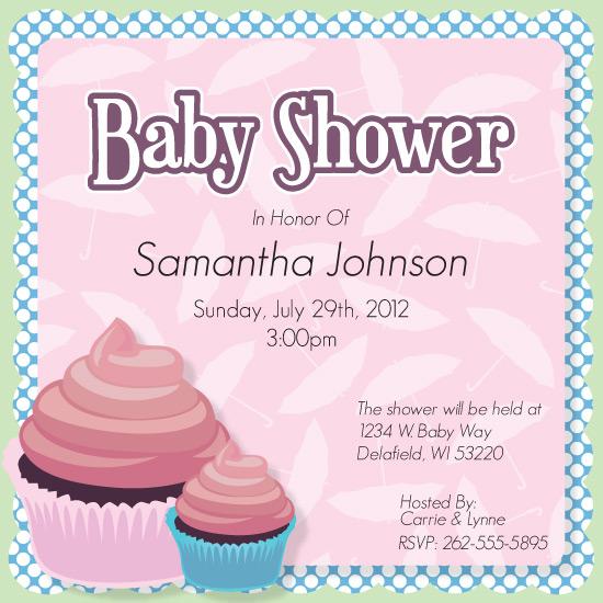 baby shower invitations baby shower cupcake by abby nesheim