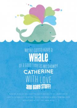 Whale of a Shower Baby Shower Invitations
