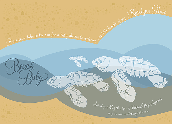 baby shower invitations - Beach Baby by Julie Thompson