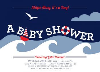Nautical Shower Baby Shower Invitations