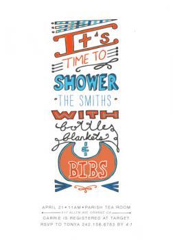 Bottle Blankets & Bibs Baby Shower Invitations