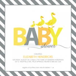 Duck Family Baby Shower Invitations