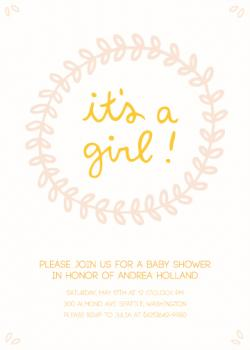 sweet floral baby girl Baby Shower Invitations
