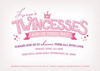 Twincess Shower Baby Shower Invitations
