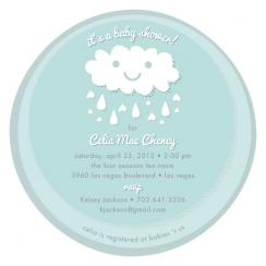 Little Cloud Baby Shower Invitations