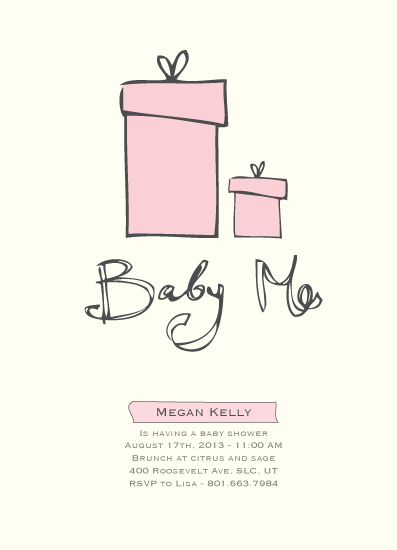 baby shower invitations - Baby Me by Tate Design