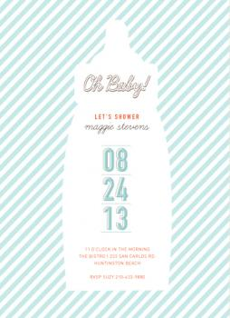 the baby bottle Baby Shower Invitations