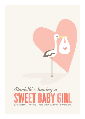 baby shower invitations - sweet delivery by Guess What Design Studio