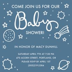 Outerspace Baby Shower Invitations