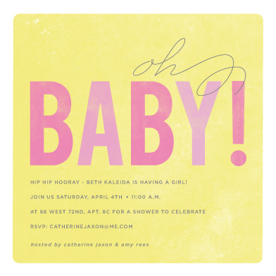 baby shower invitations - oh baby by Sara Malone