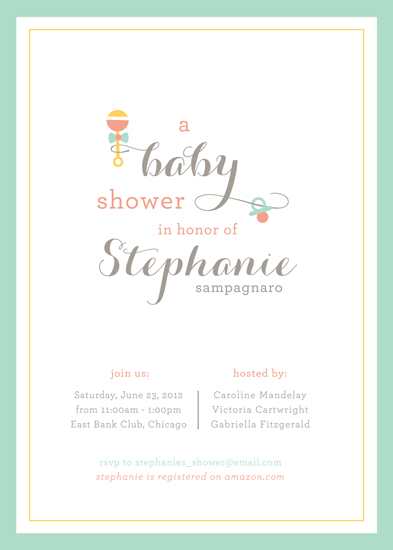 baby shower invitations rattle and hum by kimberly fitzsimons