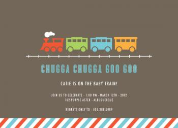 Chugga Chugga Goo Goo Baby Shower Invitations