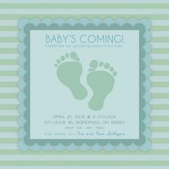 Wittle Cute Feet Baby Shower Invitations