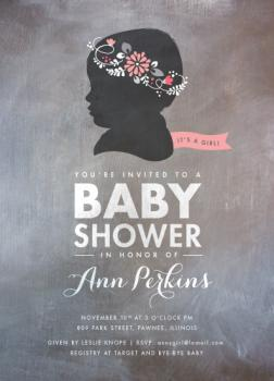 Cameo: Fleur Baby Shower Invitations
