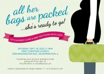 Bring on Baby Baby Shower Invitations