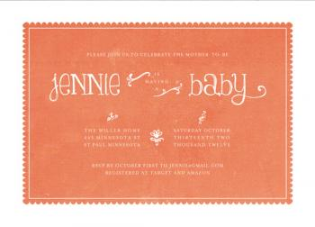 Double Framed Baby Shower Invitations