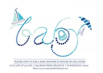 little baby dots Baby Shower Invitations