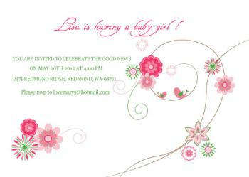 bohemian floral Baby Shower Invitations