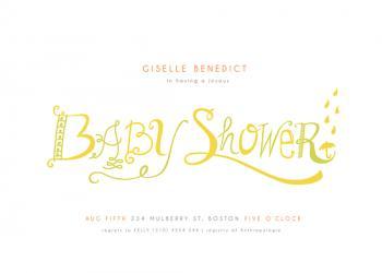 garden antiquarian Baby Shower Invitations