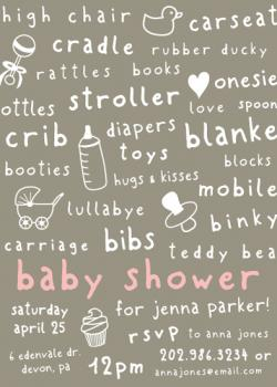 Baby Things Baby Shower Invitations