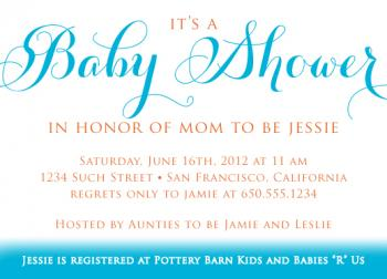 Simple Theme Baby Shower Invite