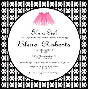 Tutu for a new baby girl Baby Shower Invitations