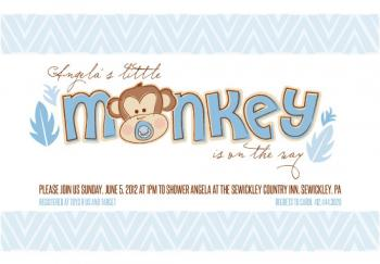 Monkey Business Baby Shower Invitations