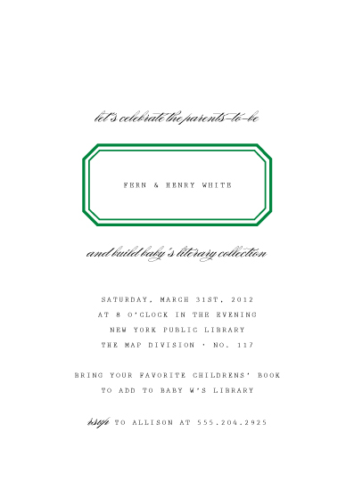 baby shower invitations - Ex Libris by toast & laurel