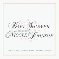 Classy Baby Baby Shower Invitations