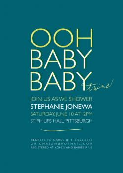 Oh Baby, Baby! Baby Shower Invitations