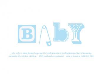 Baby Type Baby Shower Invitations