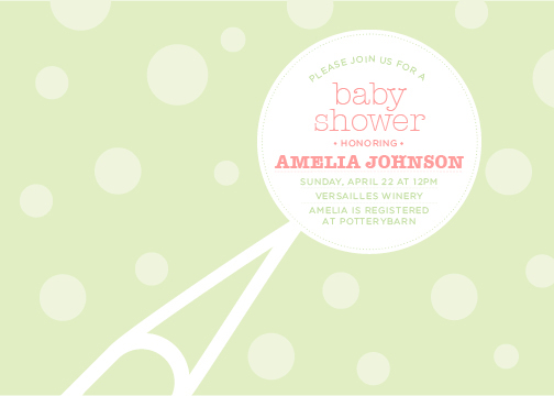 baby shower invitations - Baby Rattle by Katie Speelman