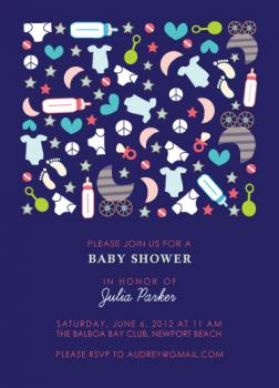 Peace, Love & Baby Baby Shower Invitations
