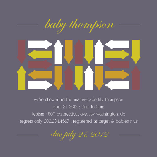 baby shower invitations - Mod Bottles by Rachel Buchholz