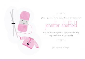 Close-knit Baby Shower Invitations