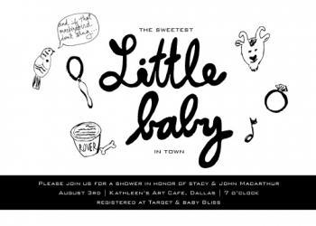 mockingbird lullaby Baby Shower Invitations
